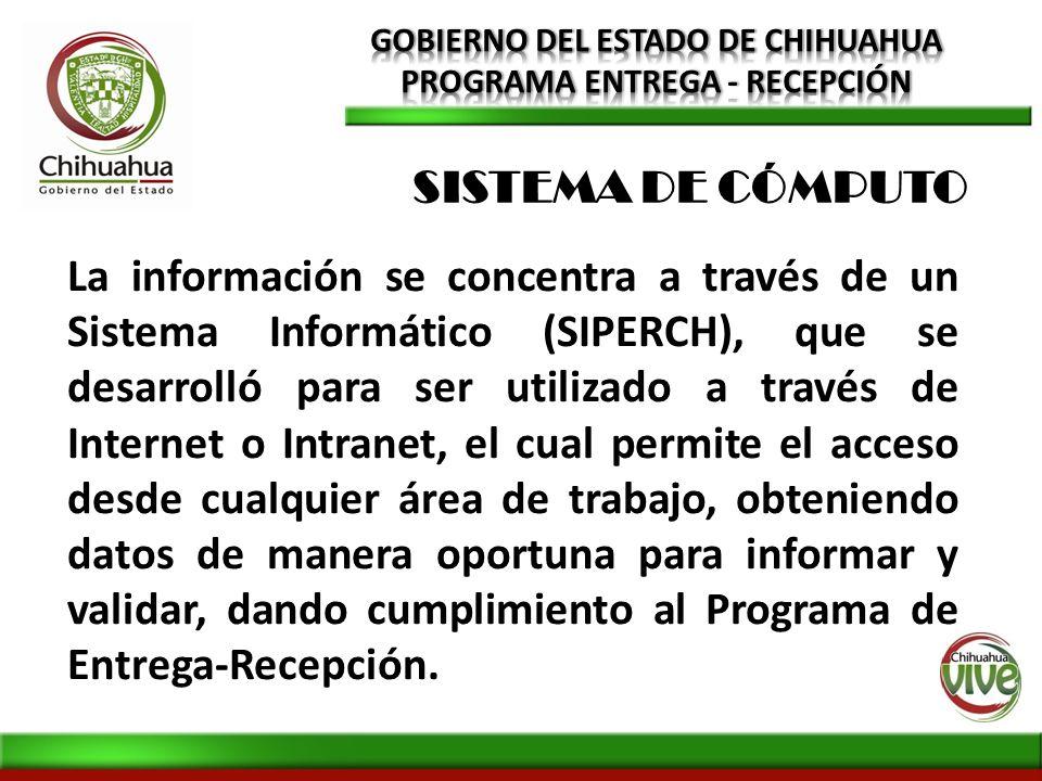 GOBIERNO DEL ESTADO DE CHIHUAHUA PROGRAMA ENTREGA - RECEPCIÓN