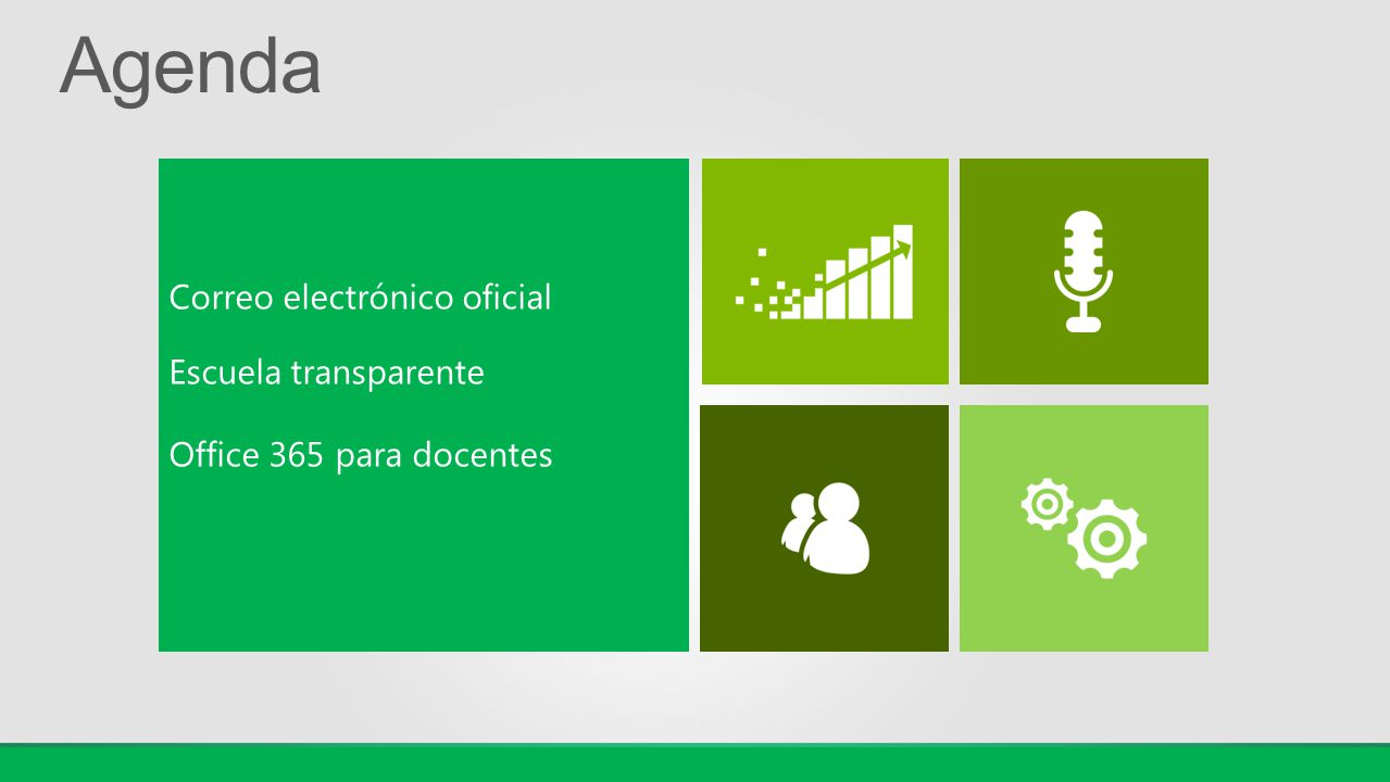 Agenda Correo electrónico oficial Escuela transparente
