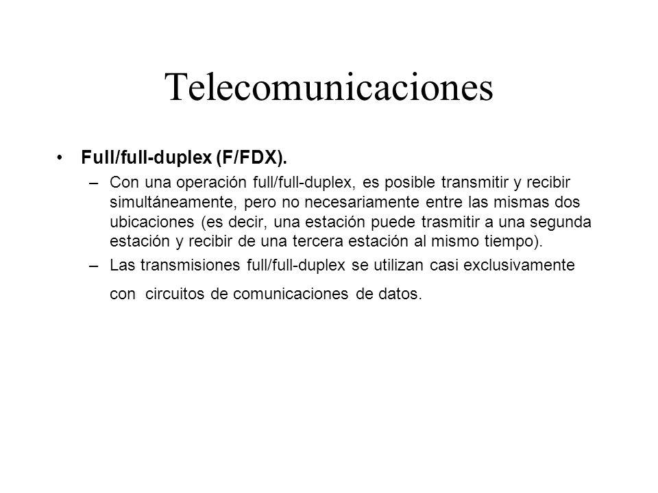 Telecomunicaciones Full/full-duplex (F/FDX).