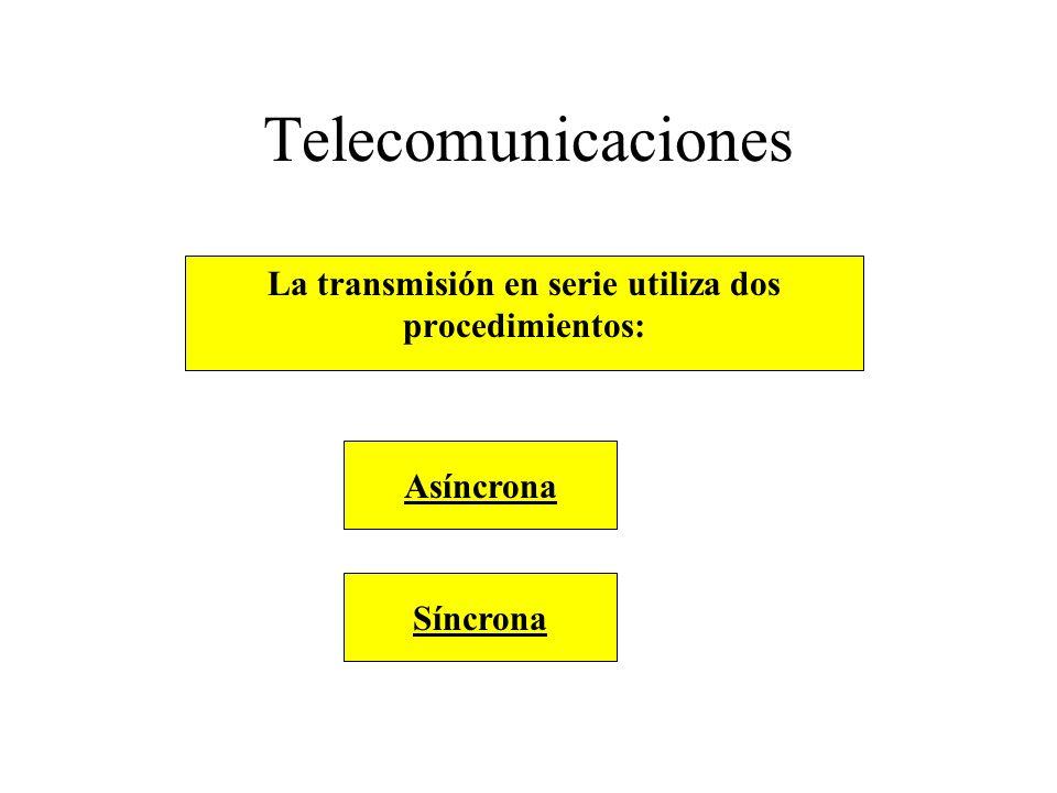 La transmisión en serie utiliza dos
