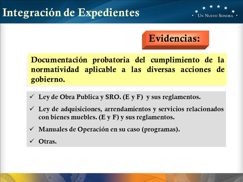 Integración de Expedientes