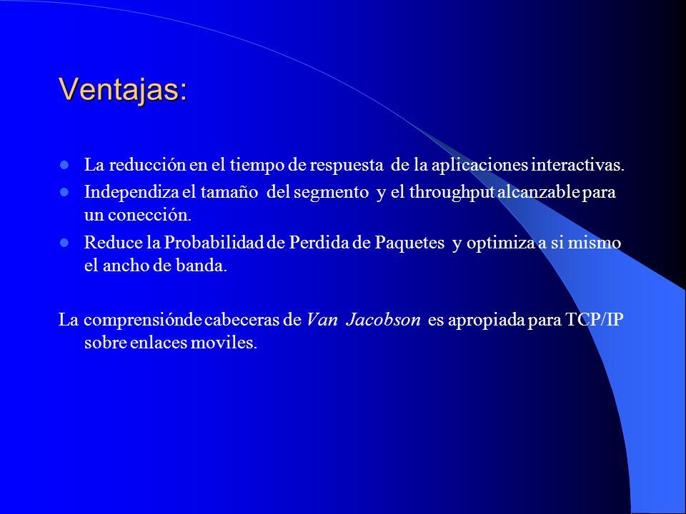 Ventajas: La reducción en el tiempo de respuesta de la aplicaciones interactivas.