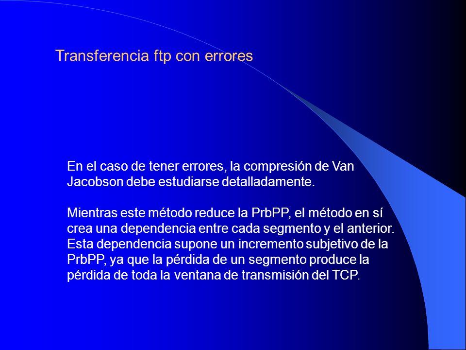 Transferencia ftp con errores