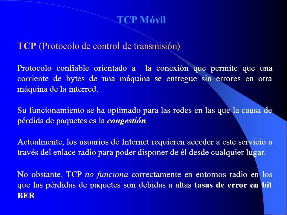 TCP Móvil TCP (Protocolo de control de transmisión)
