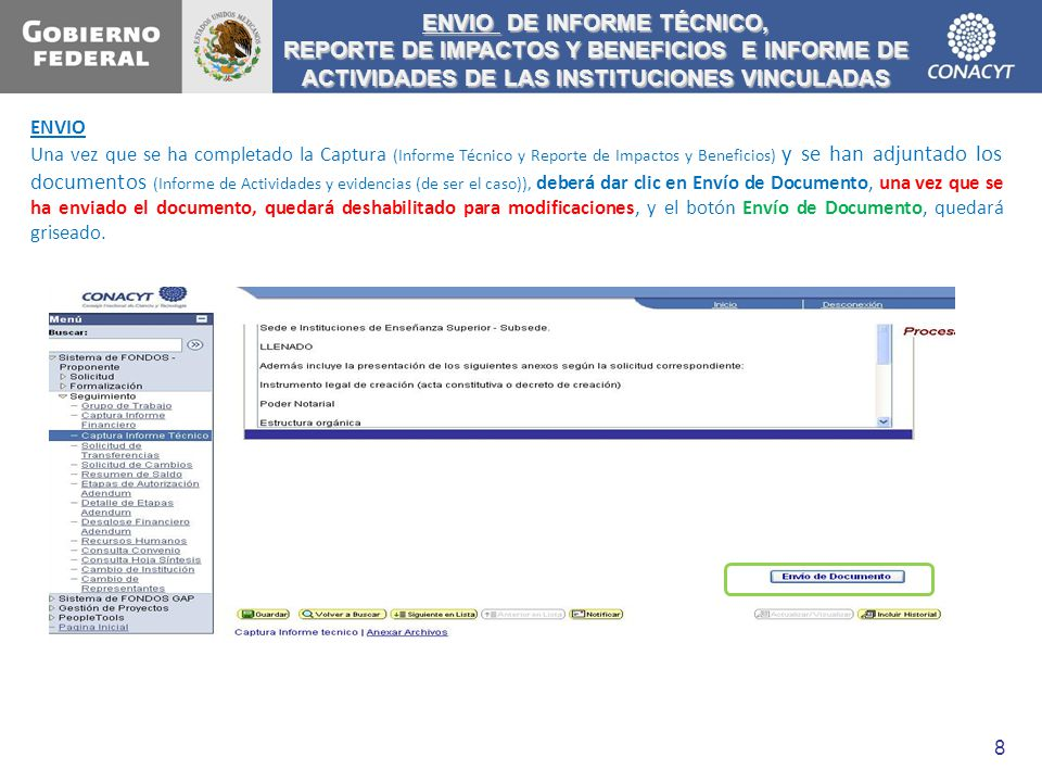 ENVIO DE INFORME TÉCNICO,