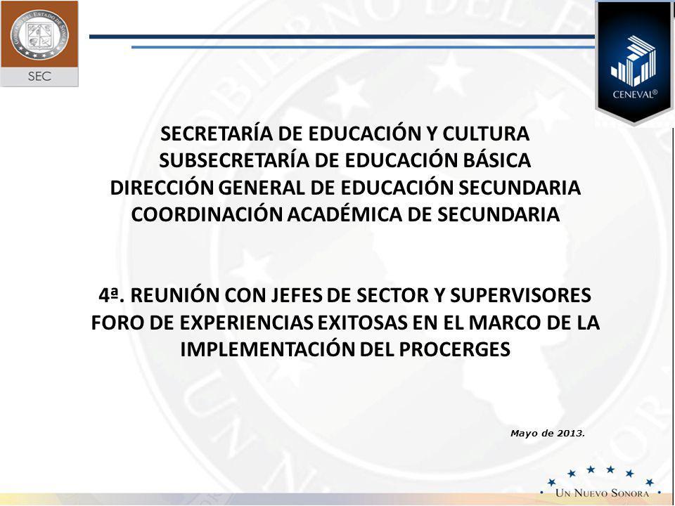 SECRETARÍA DE EDUCACIÓN Y CULTURA SUBSECRETARÍA DE EDUCACIÓN BÁSICA