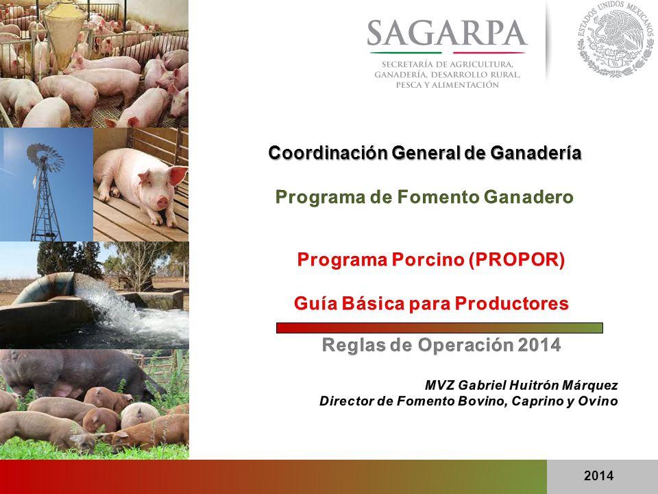 Coordinación General de Ganadería Programa de Fomento Ganadero