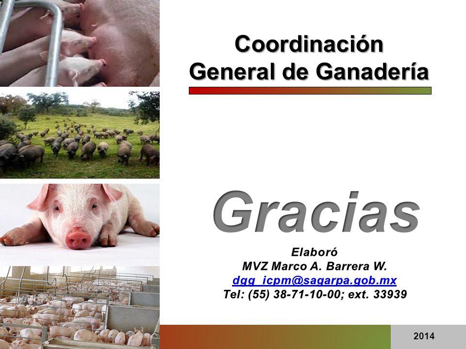 Gracias Coordinación General de Ganadería Elaboró