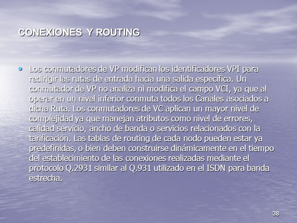 CONEXIONES Y ROUTING