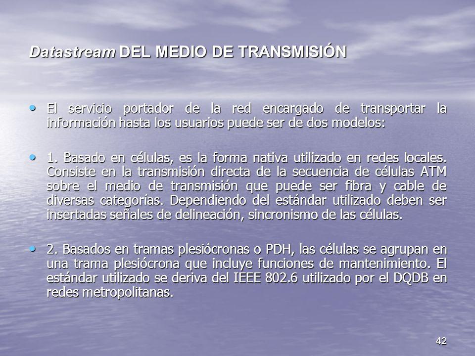 Datastream DEL MEDIO DE TRANSMISIÓN