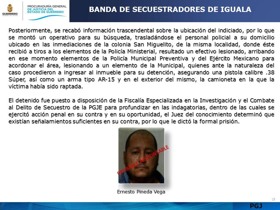 BANDA DE SECUESTRADORES DE IGUALA