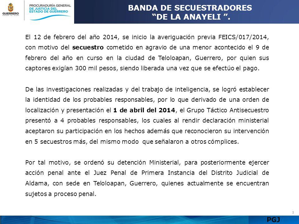 BANDA DE SECUESTRADORES