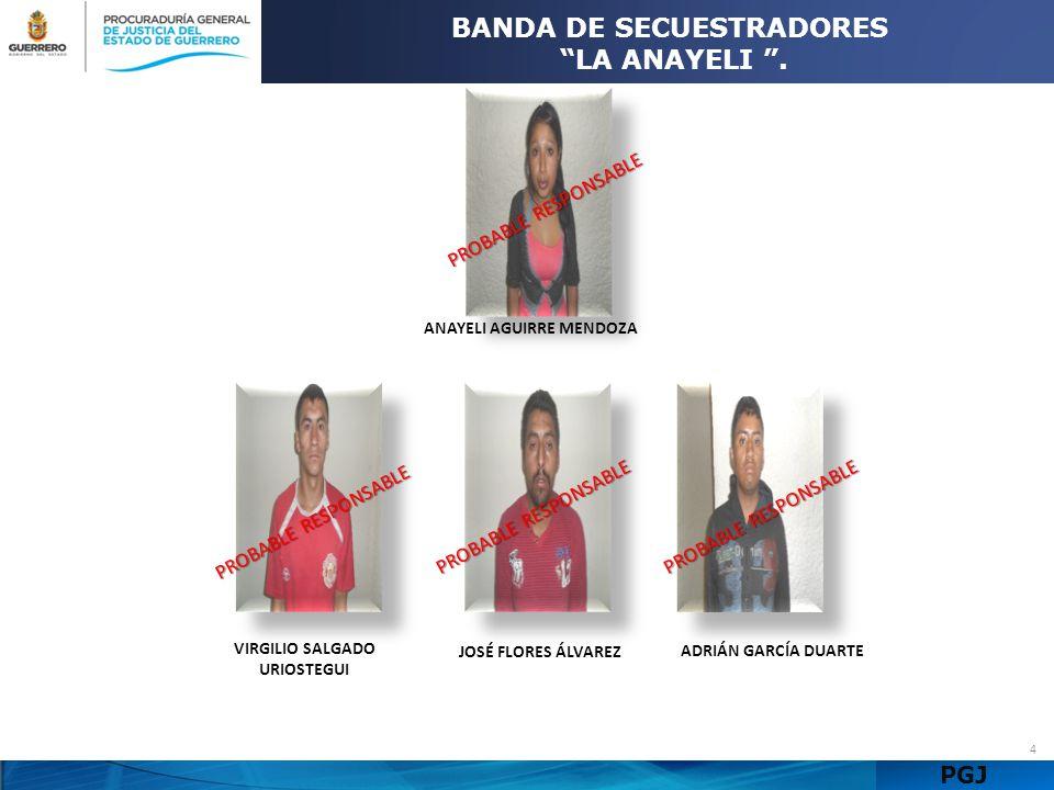 BANDA DE SECUESTRADORES LA ANAYELI .