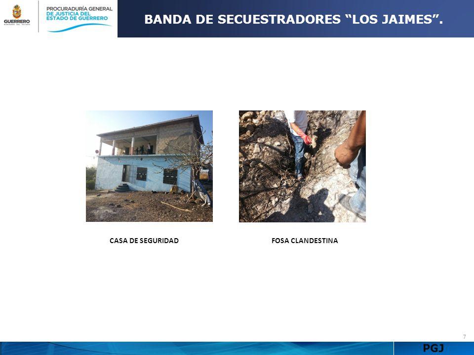 BANDA DE SECUESTRADORES LOS JAIMES .