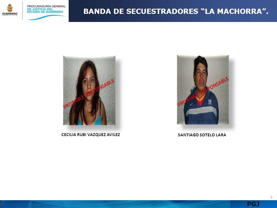 BANDA DE SECUESTRADORES LA MACHORRA . CECILIA RUBI VAZQUEZ AVILEZ