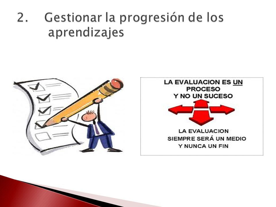 2. Gestionar la progresión de los aprendizajes