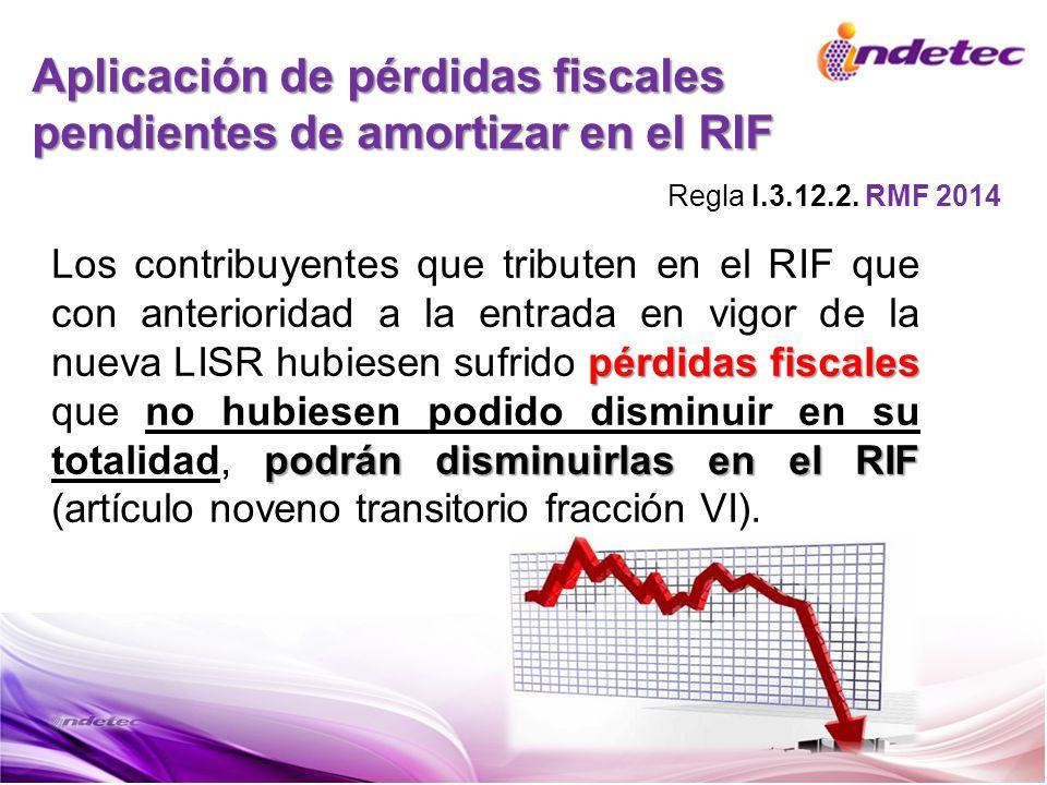 Aplicación de pérdidas fiscales pendientes de amortizar en el RIF