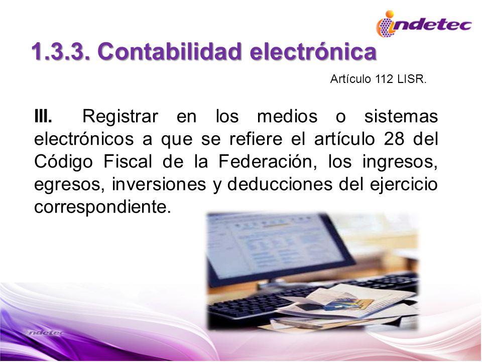 1.3.3. Contabilidad electrónica