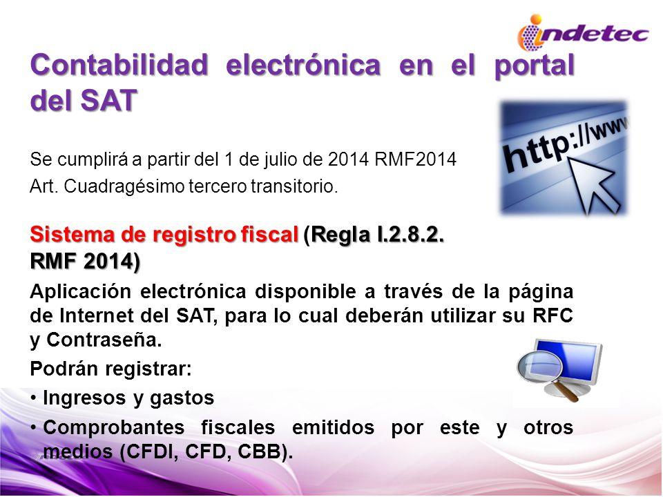 Contabilidad electrónica en el portal del SAT