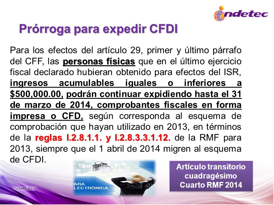 Prórroga para expedir CFDI