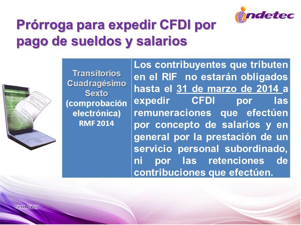 Prórroga para expedir CFDI por pago de sueldos y salarios
