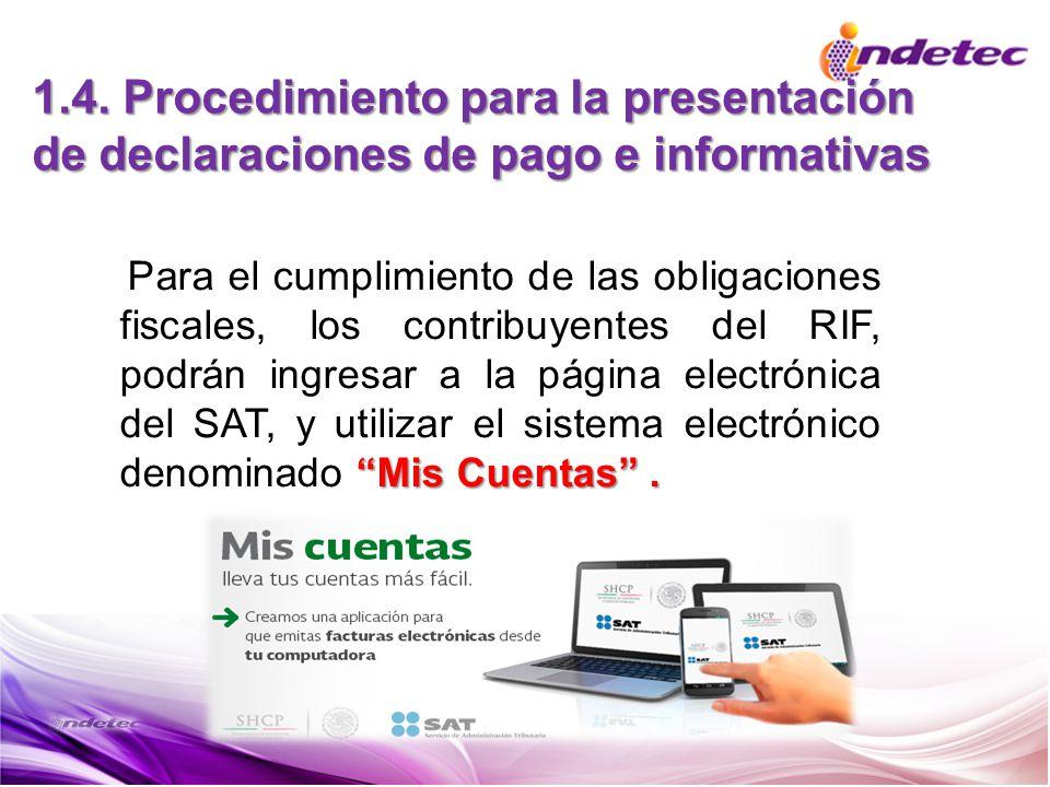 1.4. Procedimiento para la presentación de declaraciones de pago e informativas