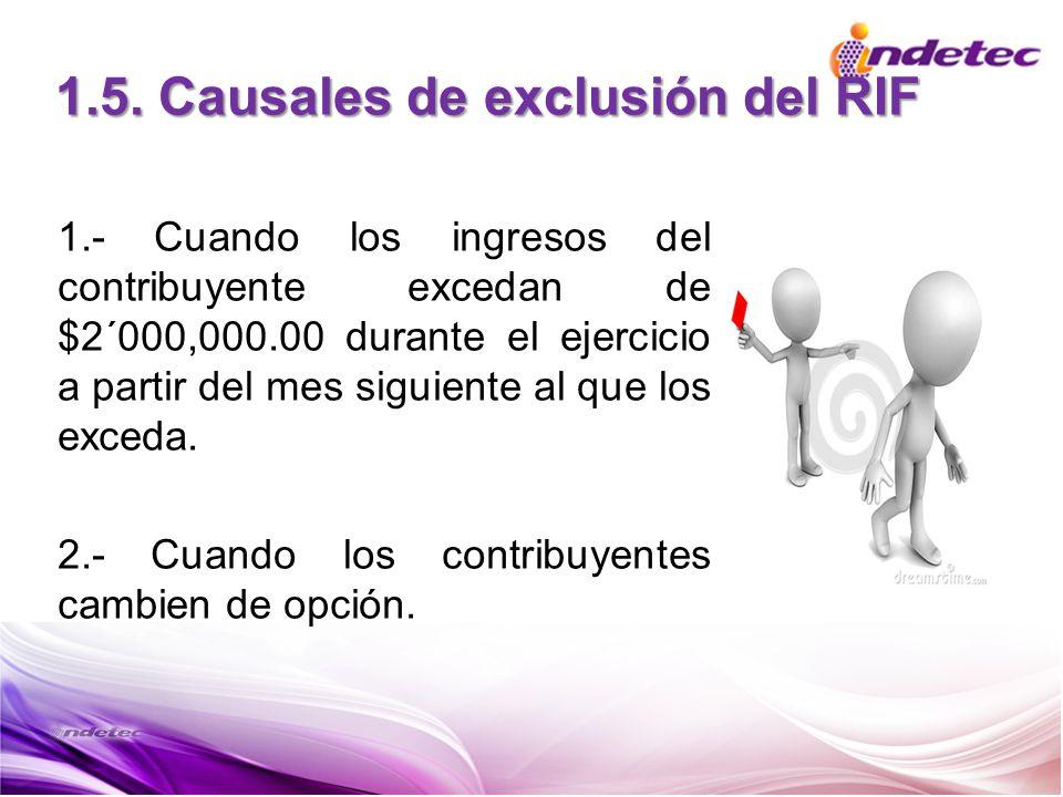 1.5. Causales de exclusión del RIF