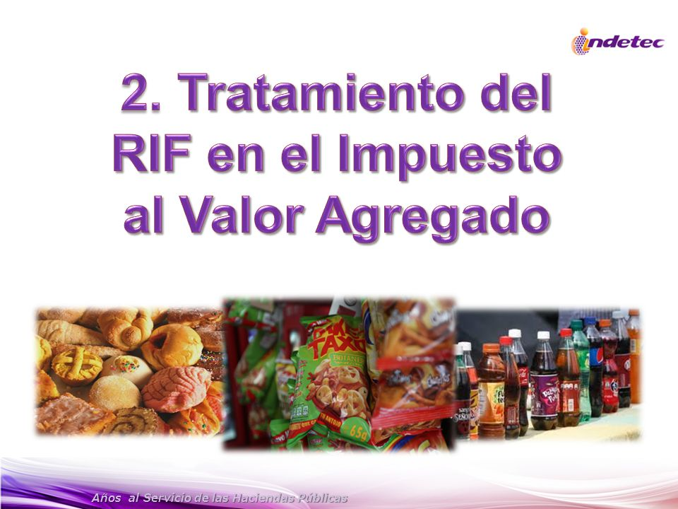 2. Tratamiento del RIF en el Impuesto al Valor Agregado