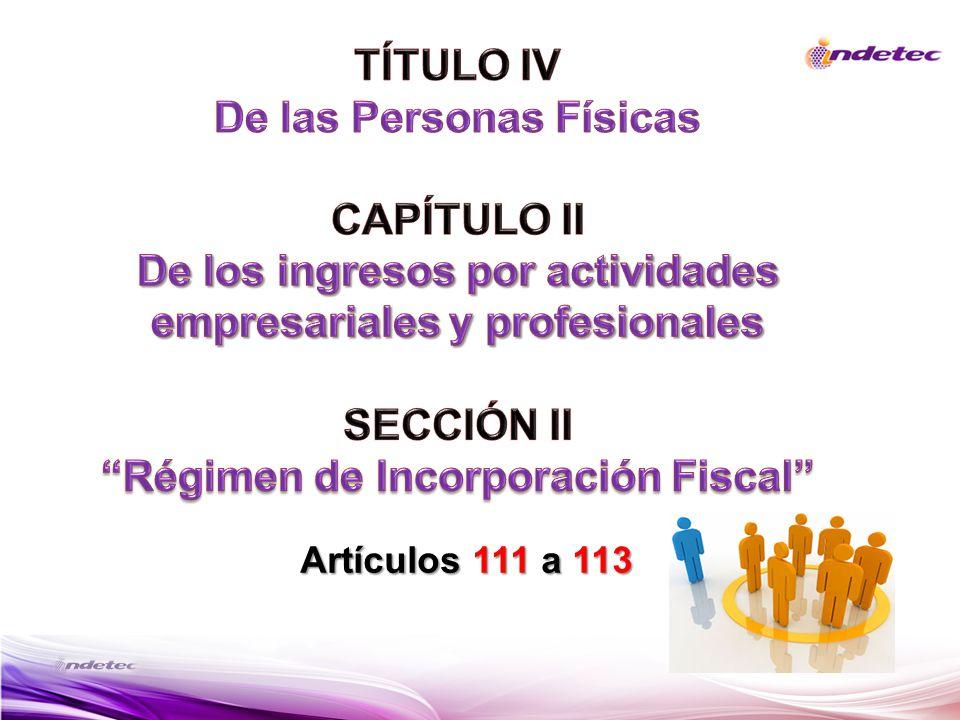 De las Personas Físicas CAPÍTULO II