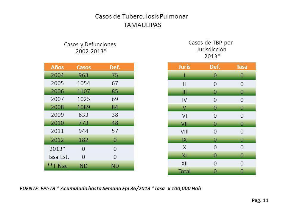 Casos de Tuberculosis Pulmonar