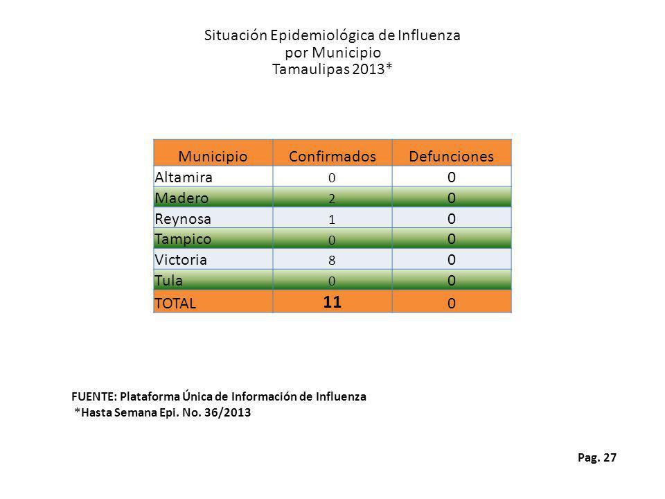 Situación Epidemiológica de Influenza