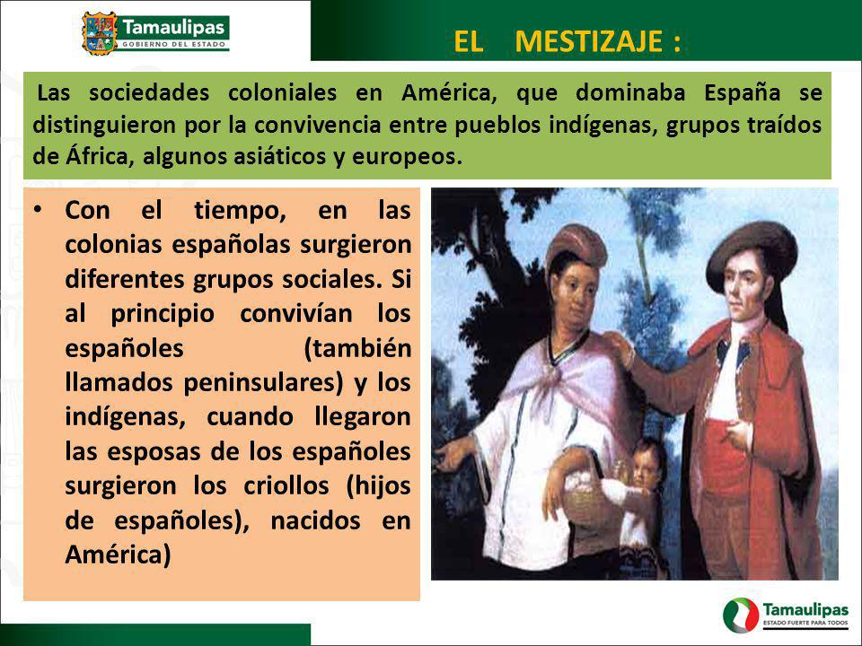 EL MESTIZAJE :