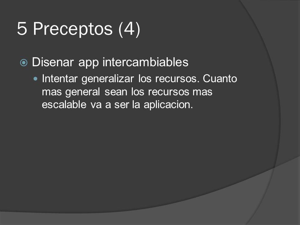5 Preceptos (4) Disenar app intercambiables