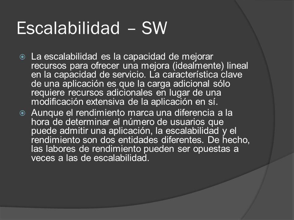 Escalabilidad – SW