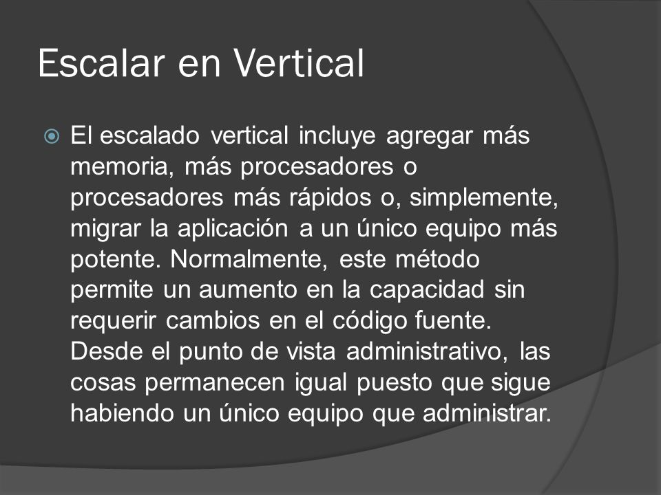 Escalar en Vertical