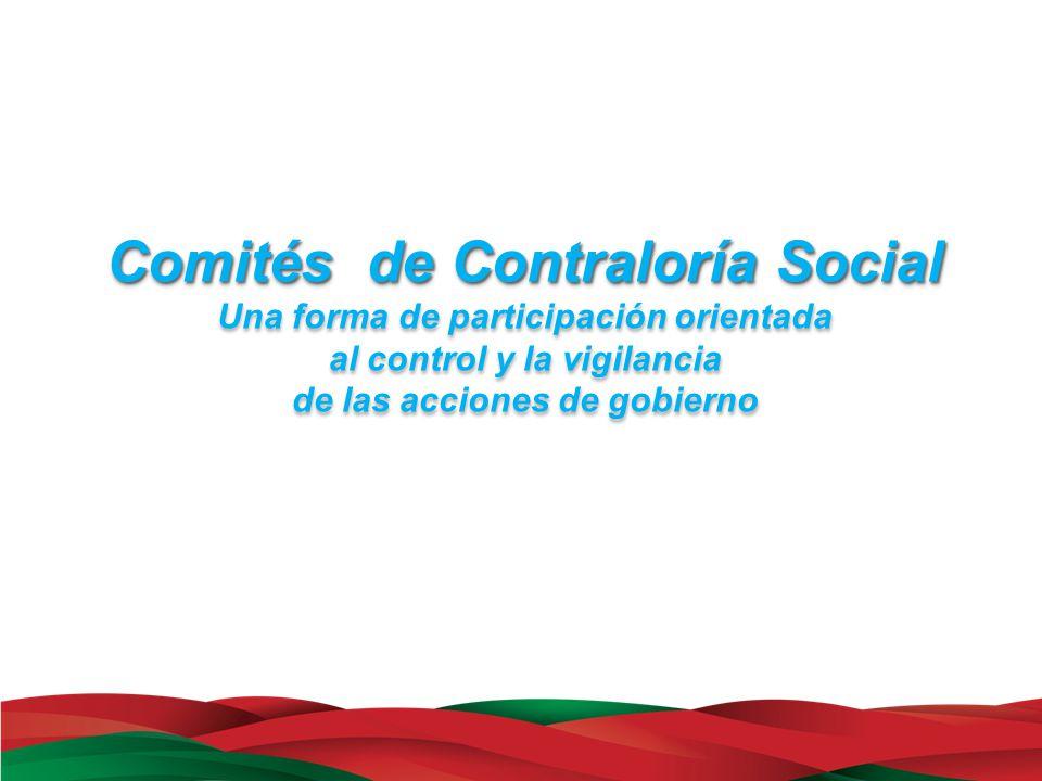 Comités de Contraloría Social