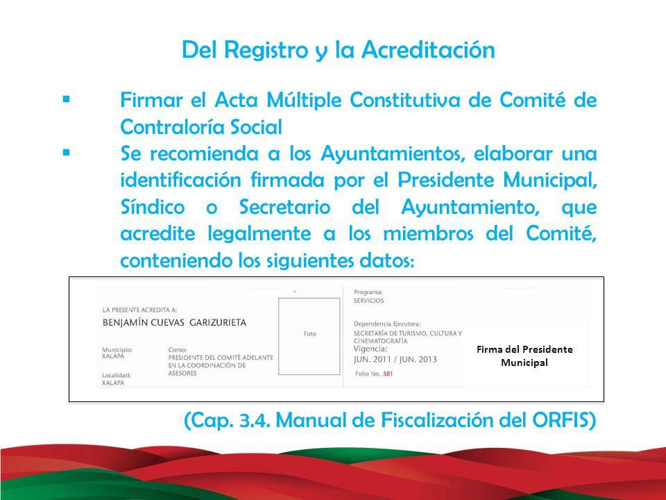Firma del Presidente Municipal