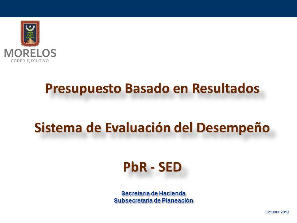 Presupuesto Basado en Resultados Sistema de Evaluación del Desempeño