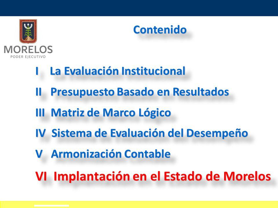 VI Implantación en el Estado de Morelos