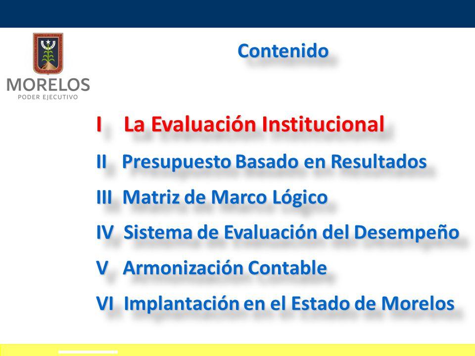 I La Evaluación Institucional