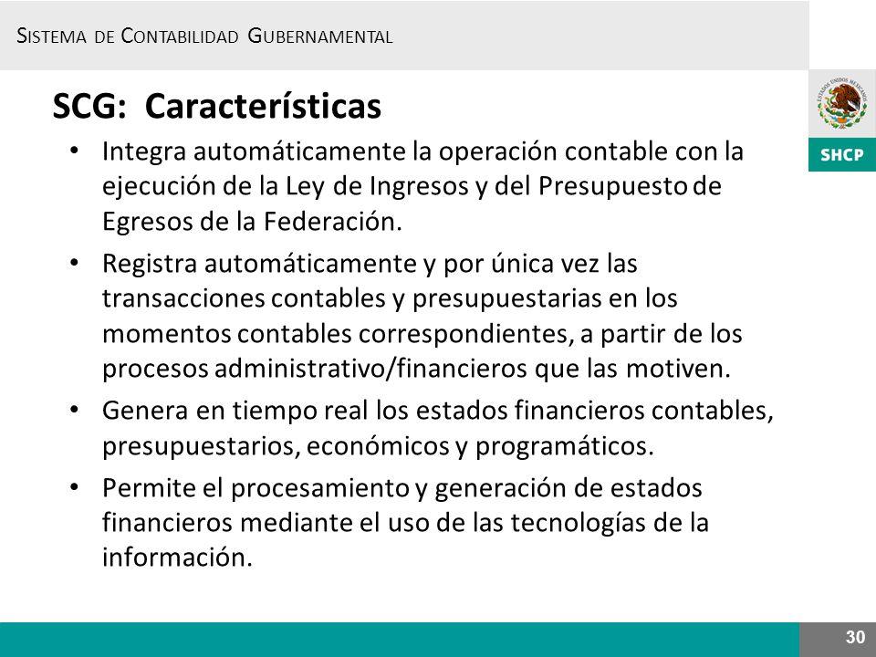 SCG: Características
