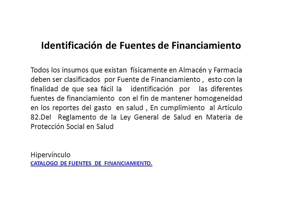 Identificación de Fuentes de Financiamiento