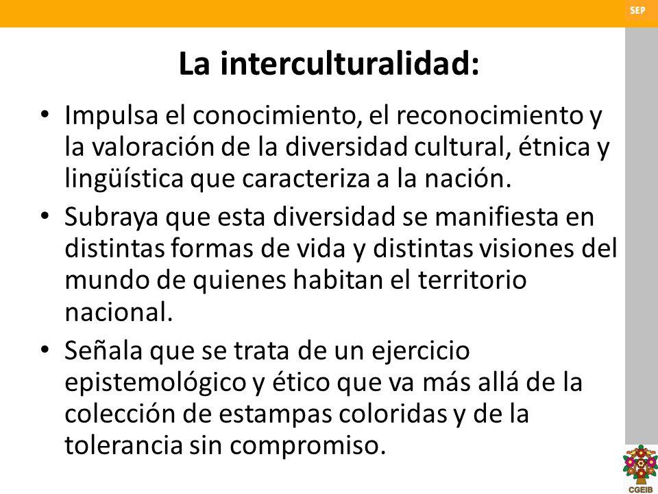 La interculturalidad: