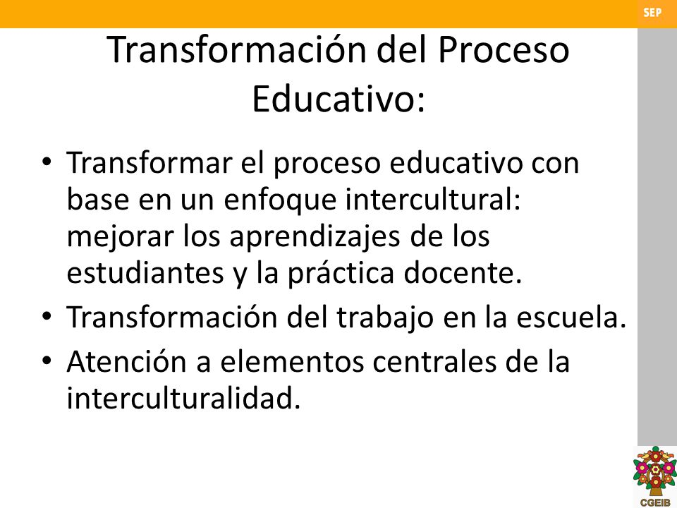 Transformación del Proceso Educativo: