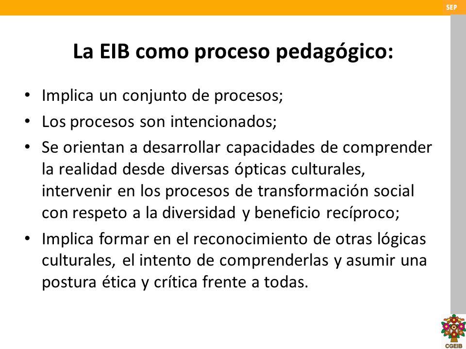 La EIB como proceso pedagógico: