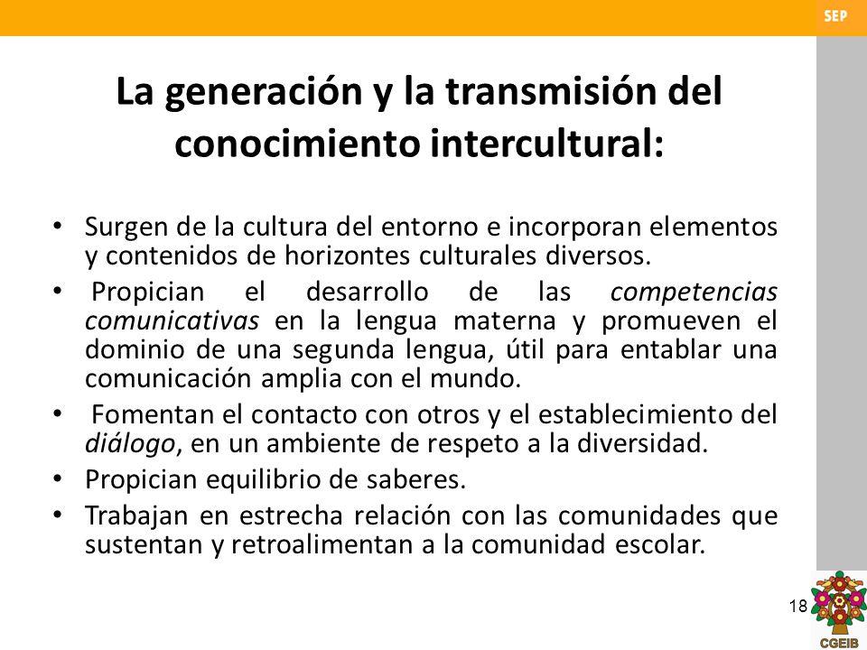 La generación y la transmisión del conocimiento intercultural: