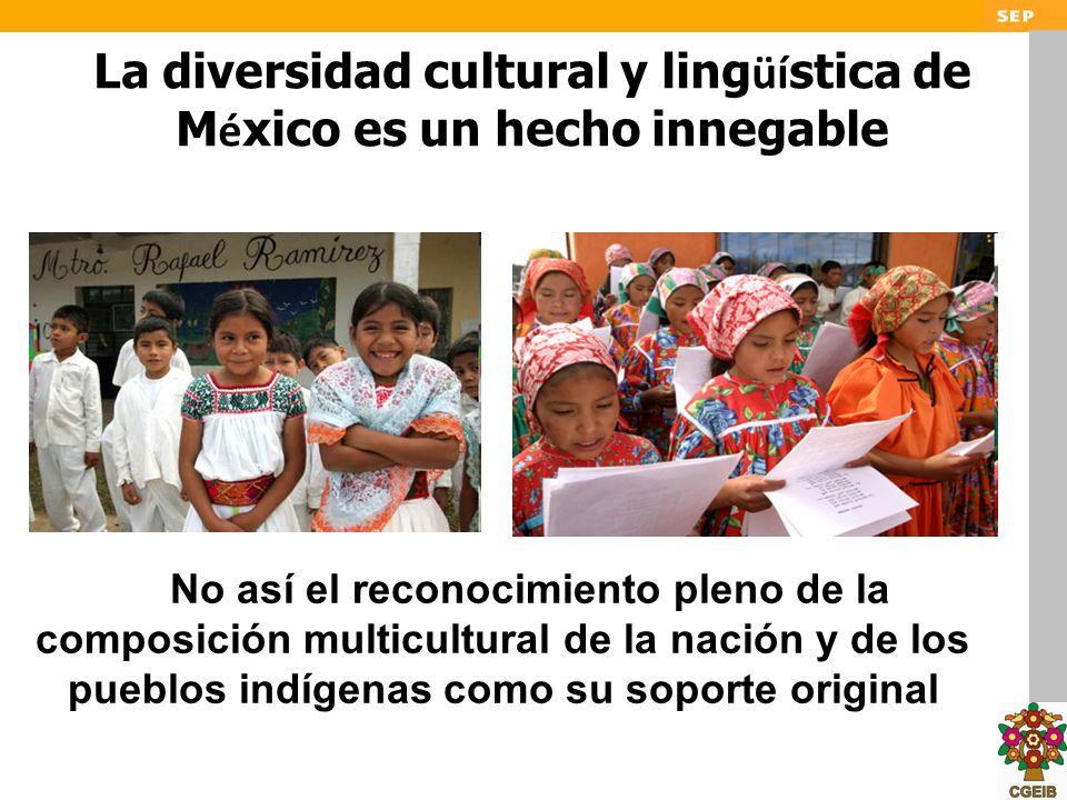 La diversidad cultural y lingüística de México es un hecho innegable