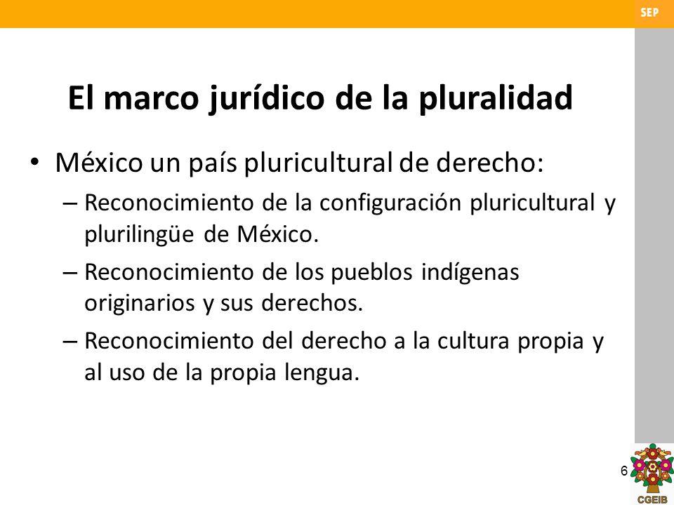 El marco jurídico de la pluralidad