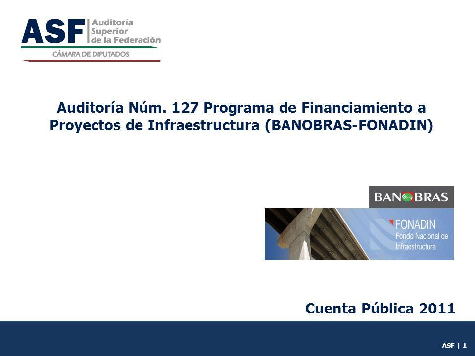 Auditoría Núm. 127 Programa de Financiamiento a Proyectos de Infraestructura (BANOBRAS-FONADIN)