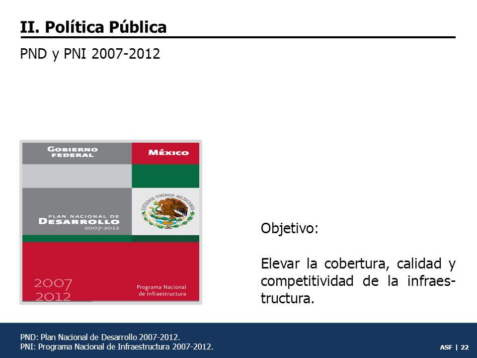 II. Política Pública PND y PNI 2007-2012 Objetivo: